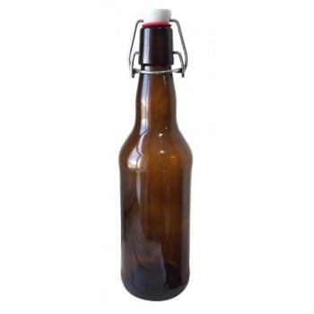 Бутылка стеклянная с бугельной пробкой, 0,5л (Коробка, 16 шт.)