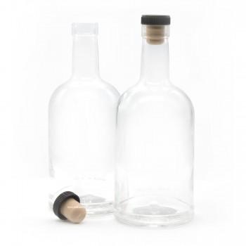 Бутылка коньячная с пробкой, 0,2л