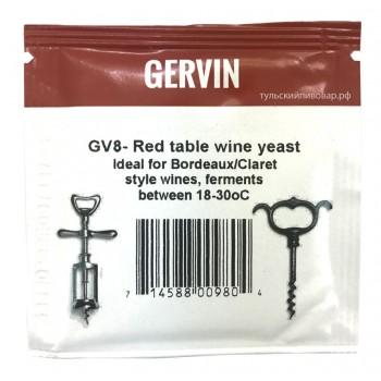 """Дрожжи ВИННЫЕ GERVIN GV8 """"Red Table Wine"""", 5г"""