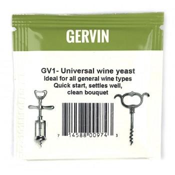 "Дрожжи ВИННЫЕ GERVIN GV1 ""Universal wine yeast"", 5г"