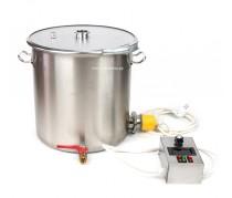 """Перегонный куб с хомутом, 25 литров (Clamp 1,5"""") с ТЭН 3.75 кВт"""